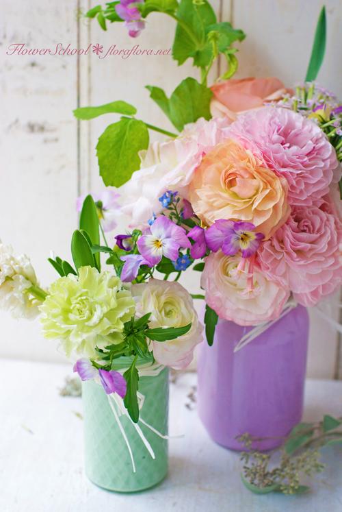 ラナンキュラスの国へようこそ 2月の花教室から 東京目黒不動前Flora*2ちいさな花の教室_a0115684_18093543.jpg