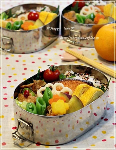 鮭弁当とベーグル♪_f0348032_19320434.jpg