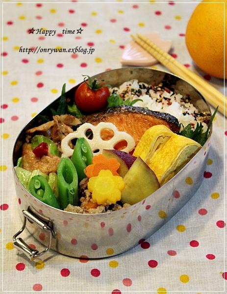 鮭弁当とベーグル♪_f0348032_19321354.jpg