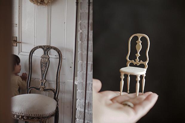 miniature* アンティーク風な椅子たちと、花粉症_e0172847_13365328.jpg
