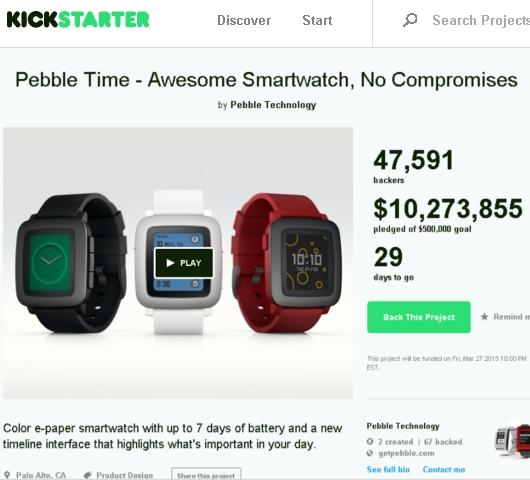 ぺブル・タイム、たった2日で1000万ドルの巨額ファンディングに成功中!! Kickstarter記録更新へ!!_b0007805_2351636.jpg