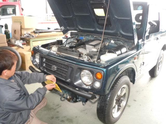JA22W ジムニー 展示車両作製中(´ω`*)_c0213517_13182717.jpg