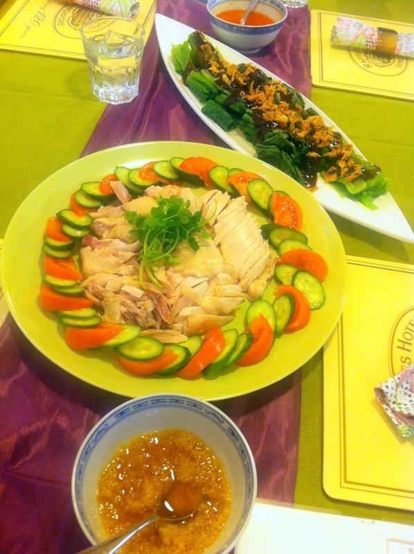 料理教室・・・シンガポール料理「海南チキンライスなど」_f0141419_10315936.jpg
