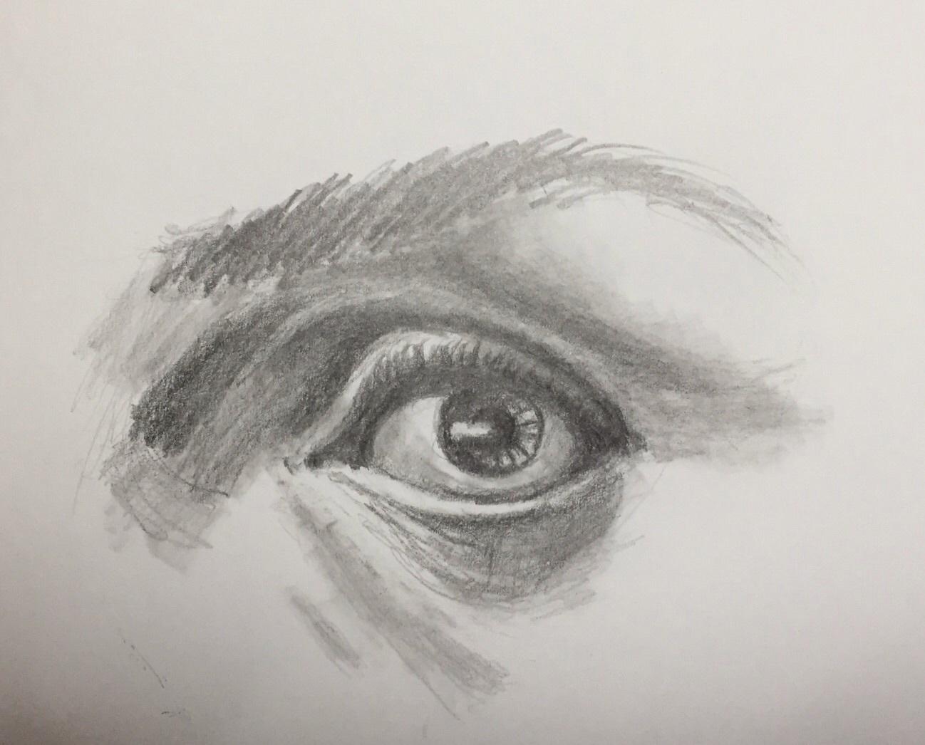 目 デッサン