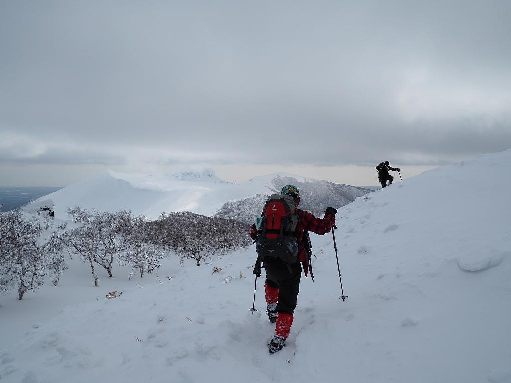風不死岳北尾根、2月26日-速報版-_f0138096_14454352.jpg