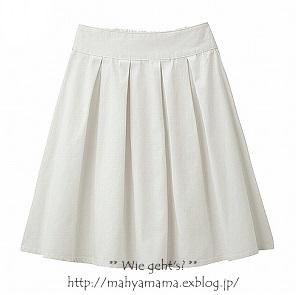 b0156467_11240116.jpg. 白のデニムスカート、 ...