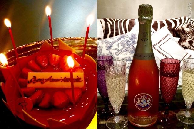 ロスチャイルドのロゼで祝うアトリエでのお誕生会♪_a0138976_17154624.jpg