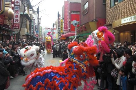 横浜中華街でパレード_a0259130_934818.jpg