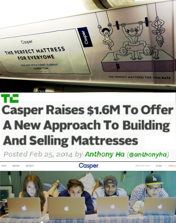 NYのベンチャー企業(Casper)のワクワク感が伝わる地下鉄ポスター_b0007805_5324594.jpg