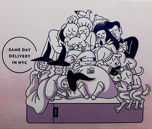 NYのベンチャー企業(Casper)のワクワク感が伝わる地下鉄ポスター_b0007805_5344891.jpg