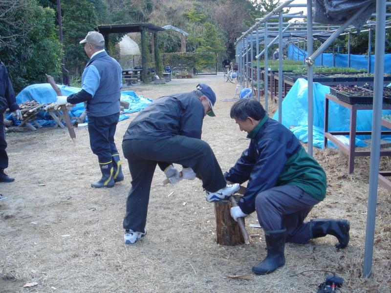 丸太ベンチを作る   in  うみべの森_c0108460_21403768.jpg