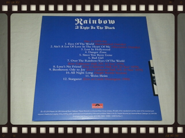 RAINBOW / A LIGHT IN THE BLACK 1975 - 1984 Disc3 & Disc6_b0042308_23454647.jpg