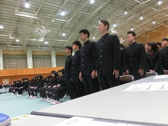 答辞に感動した! 富士市立高校2期生の卒業式_f0141310_6562631.jpg