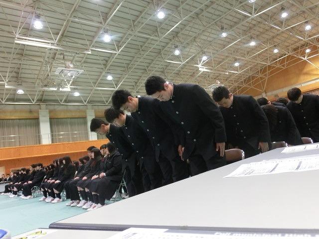 答辞に感動した! 富士市立高校2期生の卒業式_f0141310_65635100.jpg