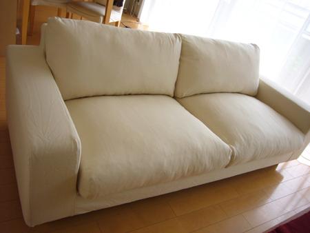 シンプルで心地いい♡無印良品のソファ