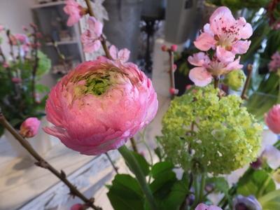 オークリーフ花の教室(春の花木を使って)_f0049672_18405166.jpg