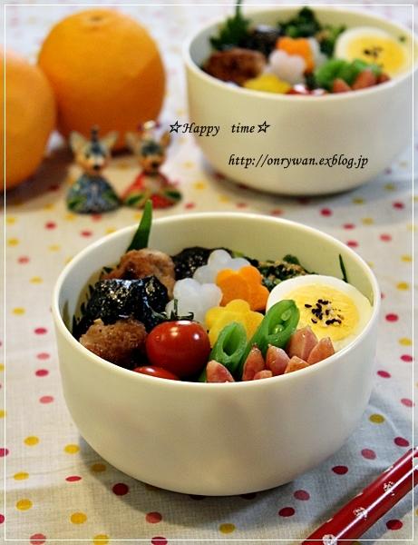 海苔つくね丼弁当と手まり寿司♪_f0348032_18052341.jpg