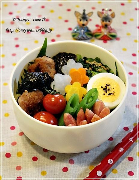 海苔つくね丼弁当と手まり寿司♪_f0348032_18053283.jpg