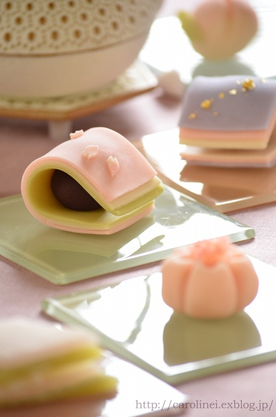 雛祭りの練りきり   Homemade Japanese Sweets of the Doll\'s Festival_d0025294_18274367.jpg