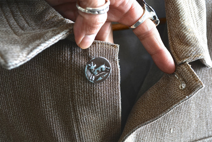 French hunting jacket with animal buttons_f0226051_13443038.jpg
