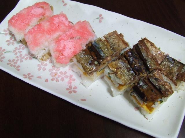 さんまの蒲焼缶で押し寿司_f0019498_1717878.jpg