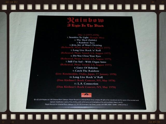RAINBOW / A LIGHT IN THE BLACK 1975 - 1984 Disc2_b0042308_23303636.jpg