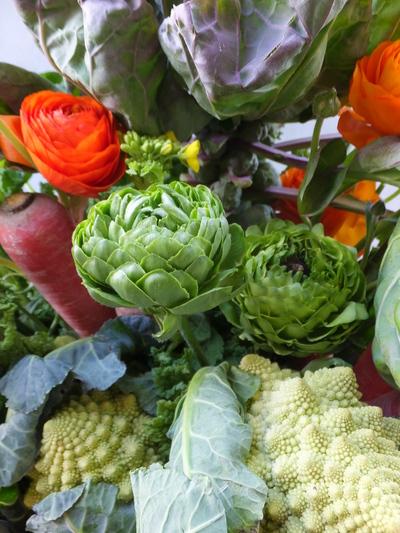 オークリーフ(農家の野菜とお花のアレンジメント)_f0049672_15253985.jpg