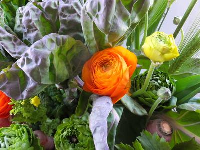 オークリーフ(農家の野菜とお花のアレンジメント)_f0049672_15254770.jpg