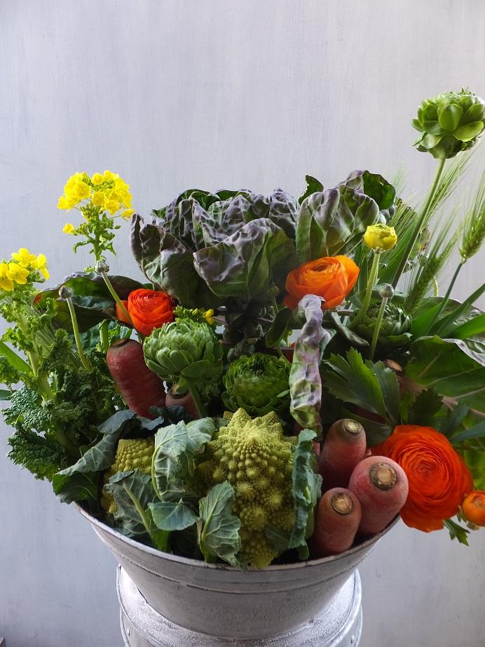 オークリーフ(農家の野菜とお花のアレンジメント)_f0049672_15281536.jpg