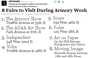 NY最大のアートの展示販売会「アーモリー・ショー」 The Armory Show 2015_b0007805_6233100.jpg