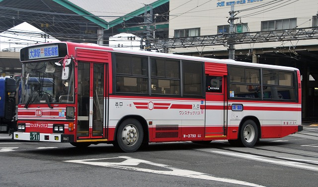 京阪バス~ブルーリボンHUワンステップバス  W-3793_a0164734_1071362.jpg
