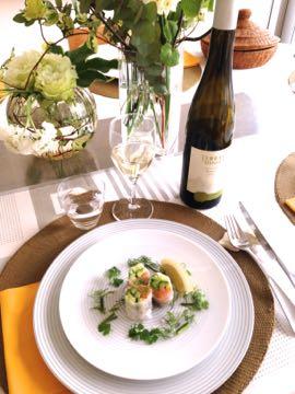 料理教室 2015年3月  えんどう豆のガレット 土佐文旦とウドのサラダ 蛤と鯛のパスタ_e0134337_19554240.jpg