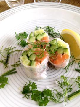 料理教室 2015年3月  えんどう豆のガレット 土佐文旦とウドのサラダ 蛤と鯛のパスタ_e0134337_1956519.jpg