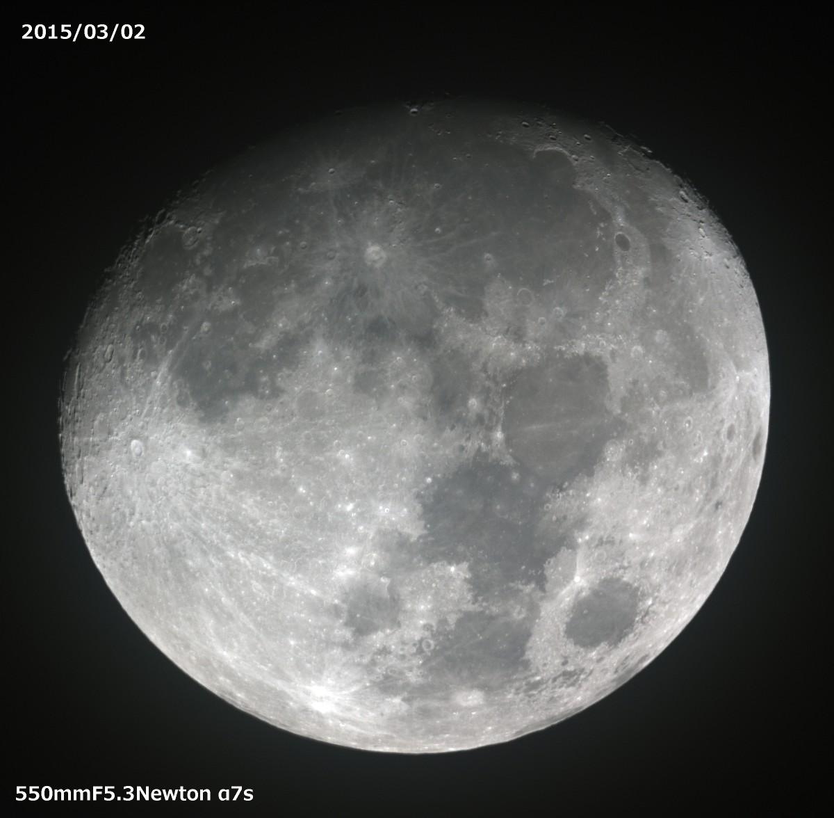 60cmドブソニアン自作記(130) 薄雲越しに月を撮る_a0095470_2275637.jpg