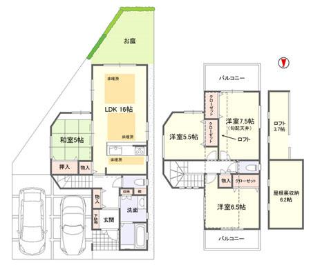 ハピネス吉田ⅡA号地モデルハウス上棟_e0251265_13201962.jpg