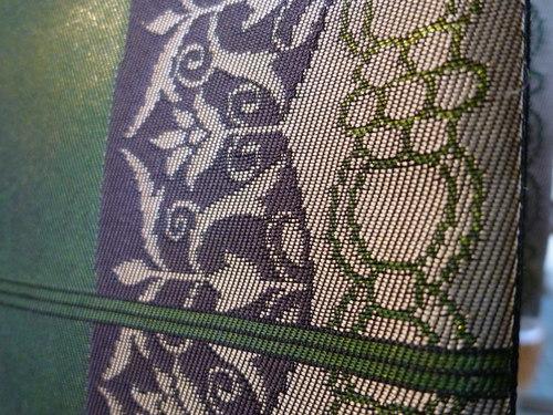 手織袋帯 献上更紗_d0159384_1727101.jpg