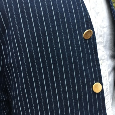aseedoncloud アシードオンクラウド missionary jacket indigo stripe _e0248492_18402454.jpg