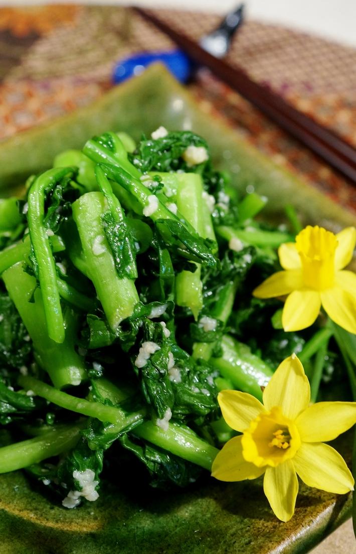 今が旬!【菜園蕾菜の漬物】簡単!5分で出来ます♪_b0033423_1327375.jpg