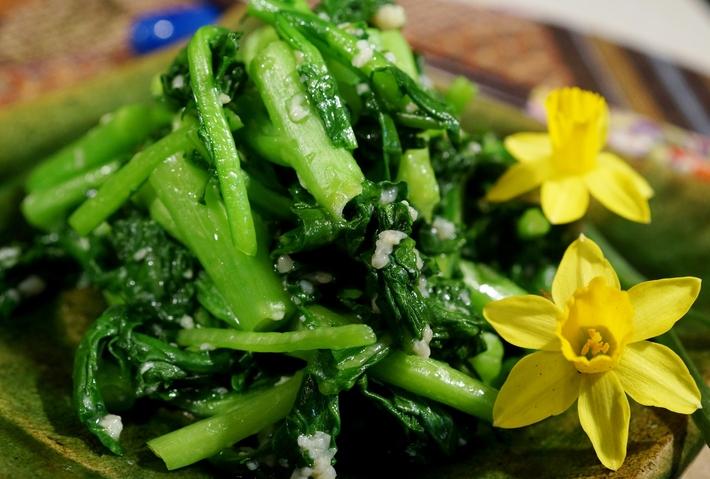 今が旬!【菜園蕾菜の漬物】簡単!5分で出来ます♪_b0033423_1327799.jpg