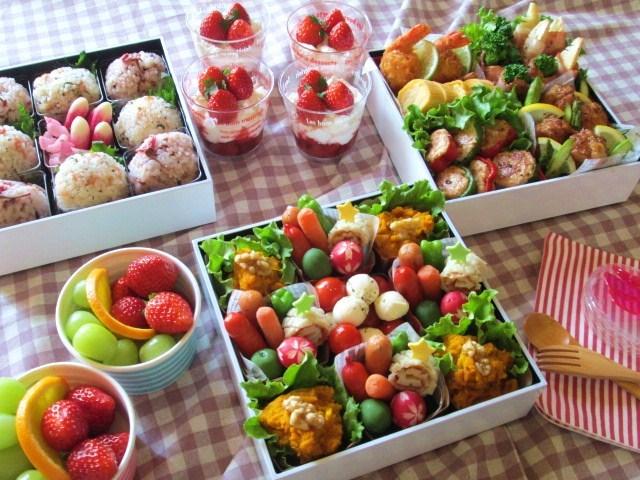 華やかな彩りと食べやすさがポイント!花畑のような「春づくしのお花見弁当」!