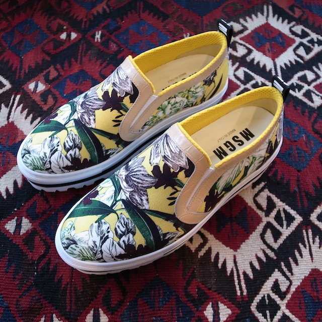 MSGM SLIPON YELLOW PRINT_f0111683_19295741.jpg