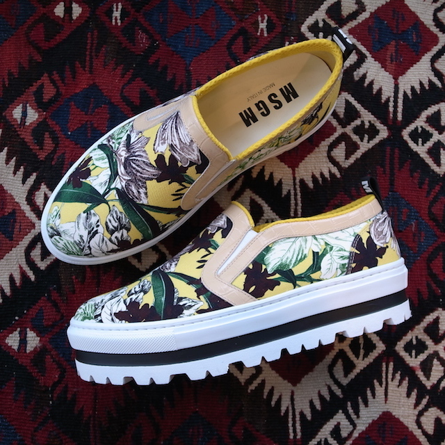 MSGM SLIPON YELLOW PRINT_f0111683_19300085.jpg