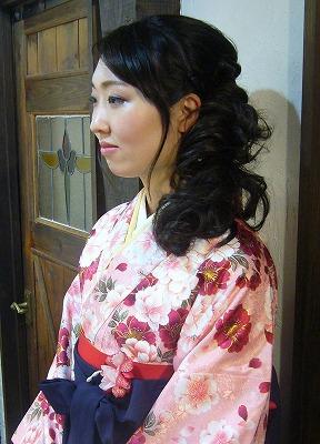 3月の袴の着付け&振袖 part 1_a0123703_16592724.jpg
