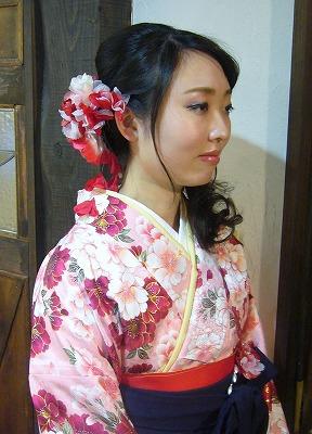 3月の袴の着付け&振袖 part 1_a0123703_16594387.jpg