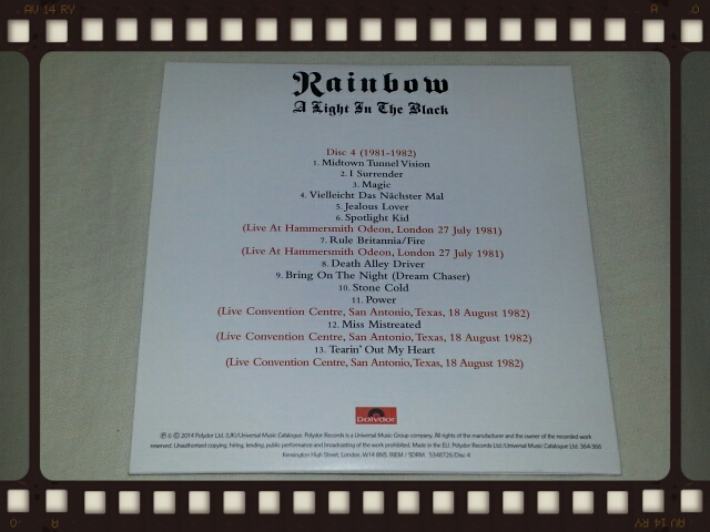 RAINBOW / A LIGHT IN THE BLACK 1975 - 1984 Disc4_b0042308_23561365.jpg