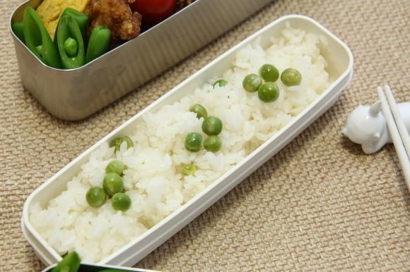 青豆ごはん和風弁当&朝食は、ハムサンド。_c0326245_09312335.jpg