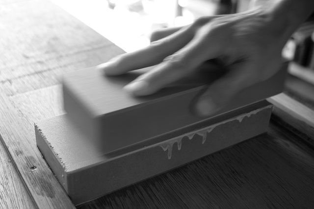 砥石の面直しについて :鑿研ぎ練習 番外編_e0248405_17182931.jpg