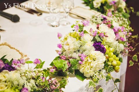 バストコサージュでイメージチェンジ&ワインテーマのテーブル装花_b0113510_10515617.jpg