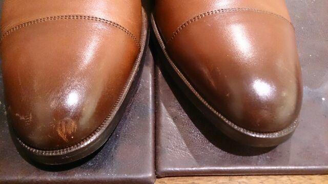 二種類の色の靴のお手入れは…_b0226322_18381355.jpg