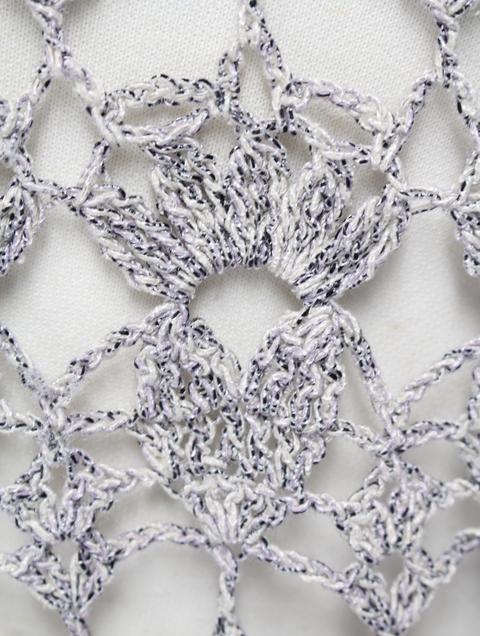 すてきな手編みの人気作品を別糸で編むと・・・_e0219061_1873486.jpg